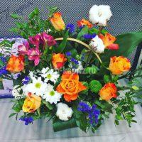 Корзина с цветами «Яркая мечта»