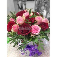 Композиция «Сюжет» (цветы в шляпной коробке)